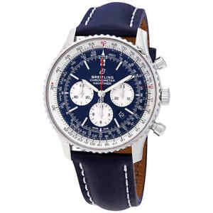 Breitling-Navitimer-1-Chronograph-Automatic-Chronometer-Aurora-Blue-Dial-Men-039-s