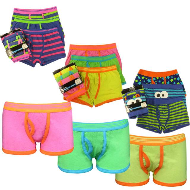 9 Pairs Boys Cotton Rich Designer Boxer Shorts Trunks Underwear 7-13 years