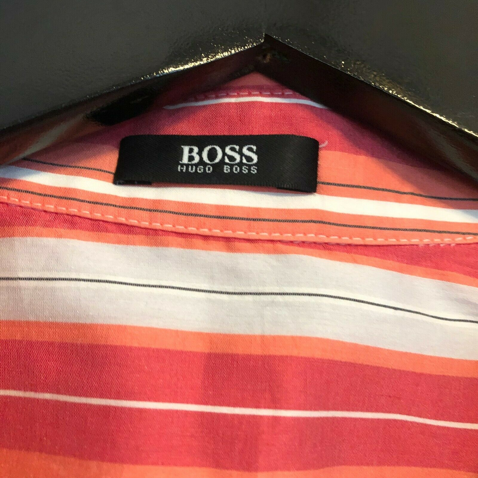 HUGO BOSS $195 Stripe Fitted Shirt Button Down Bl… - image 5