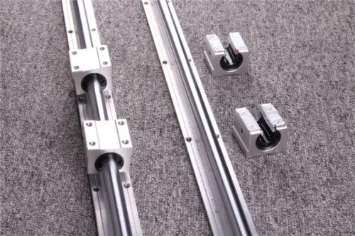 4Pcs SBR16UU Block Bearing 2Pcs Linear Rail SBR16 300-1500mm Linear Rail