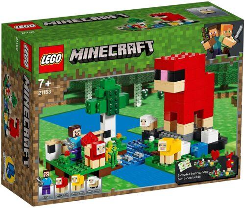 Steve Minifigure Set 21153 LEGO Minecraft Wool Farm Adventures Sheep Figures
