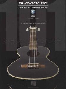 101 Ukulélé Tips Book With Audio Tab Corde Musique Livre Apprendre à Jouer-afficher Le Titre D'origine