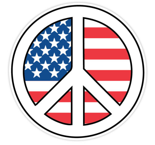 Peace Sign American Flag Patriotic Vinyl Sticker Decal Sign *SIZES* Car Laptop