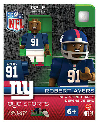 Robert Ayers OYO New York Giants NFL Football Figure LEGO Compatible NEW G2