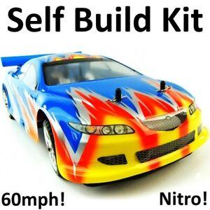 Kit Voiture Nitro Rc Télécommande Syclone Auto-construction Essence Dérive Course Rally 1/10 Mazda Rxt