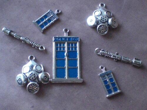 Doctor Who Tardis Sonic Screwdriver Gas Mask 11th Dr Charm Pendants Lot BBC