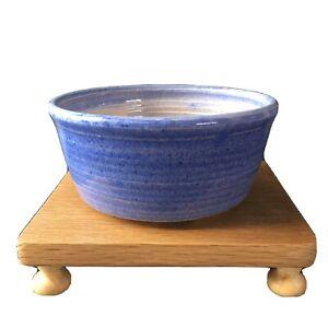 Shohin Or Cascade Glazed Round Bonsai Pot In Blue Ebay