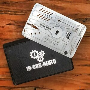 Credit Card Multitool Lock Survival Escape Tool Wallet Stainless Sparrows Chaos