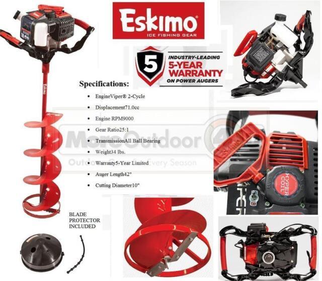 Z71Q10 NEW Eskimo Ice Fishing Shark 71cc with 10