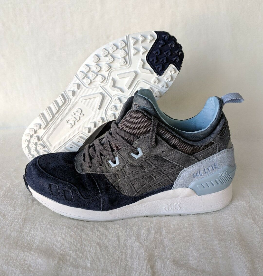 Asics Gel Lyte III MT Carbon Gray Blue Trail Running Shoes HL7Z1-9797 Size 8