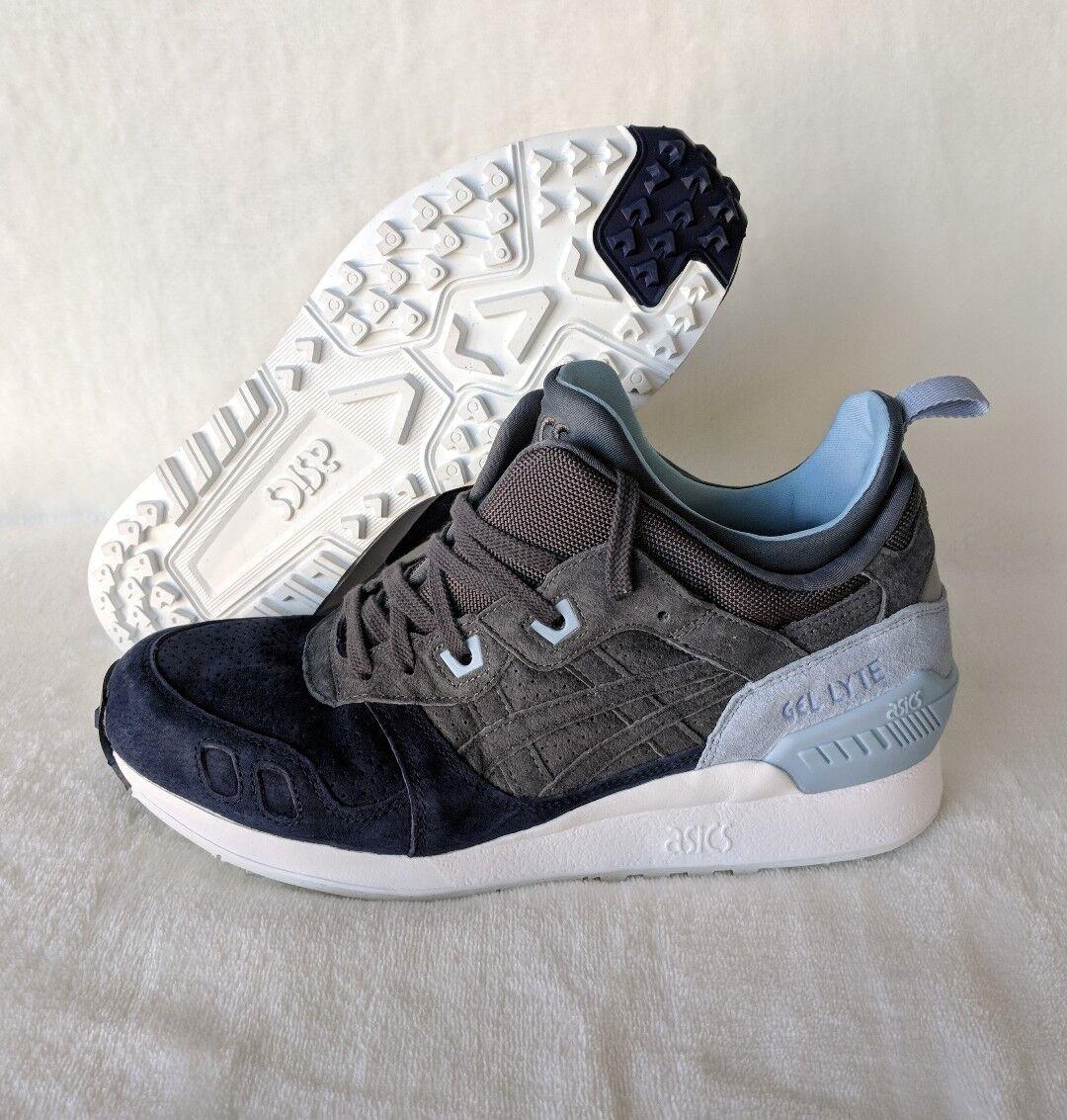 Asics Gel Lyte III MT Carbon gris Azul Trail Running Zapatos HL7Z1-9797