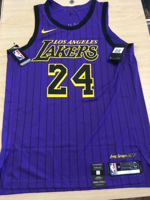Nike La Lakers #24 Kobe Bryant City Edition Authentic Jersey Sz 48 ...