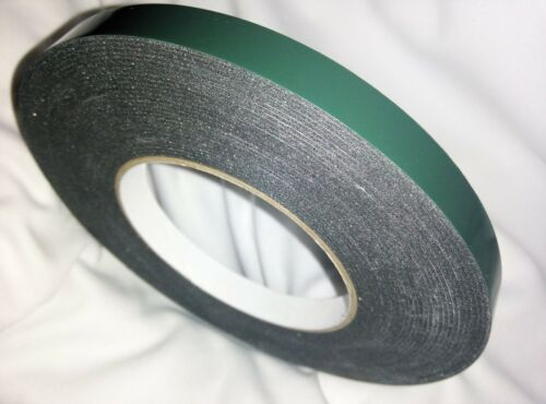 10 Metres Double Sided Self Adhesive Foam Craft Tape Padded Mounting BLACK 10m