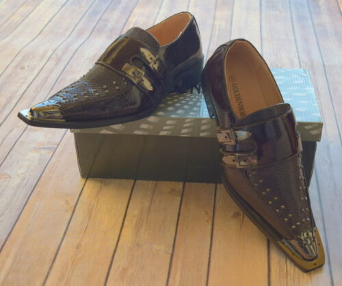 NICE ITALIAN STYLE MENS DRESS//CASUAL SHOES COLOR BROWN EXCELLENT QUALITY
