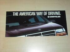 44109) Chrysler Le Baron Voyager Saratoga Cherokee Prospekt 198?