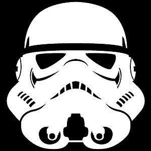 Van Star Wars Stormtrooper Helmet Laptop Scooter Vinyl Decal Sticker