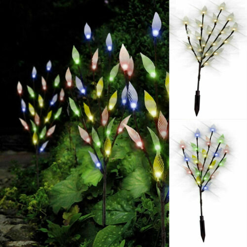 3 pc 60 LED Branch Tree Solar Power Spike Lights Outdoor Garden Path Lawn Patio