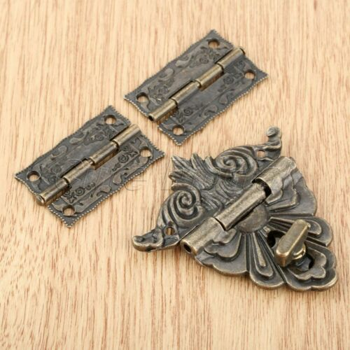 Meubles de matériel Valise Boîte à bijoux Serrure Loquet Fermoir avec 2pcs Amboss Charnières