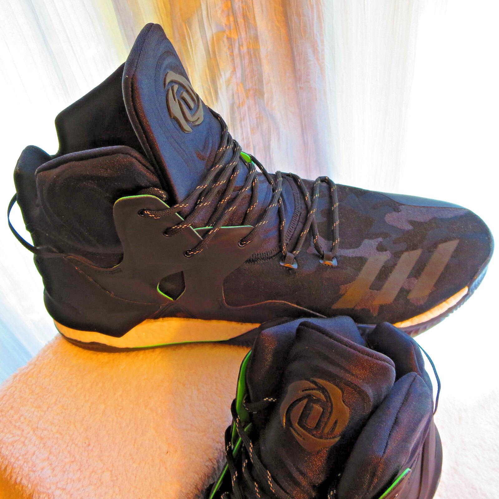 Adidas Derrick Rose 7 Ultra Boost Camo Basketball Athletic  Shoe us18 New