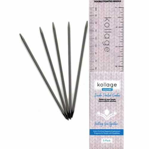 "2.50 mm 7/"" 17 cm 1.5 US Kollage :Square Double Pointed Knitting Needles:"