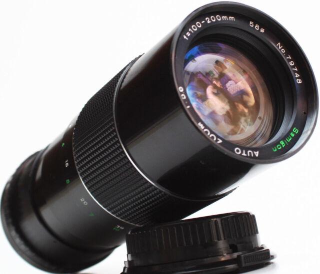Samigon 100-200mm F/5.6 Canon FD Mount Telephoto Manual Lens DSLR M4/3 Camera