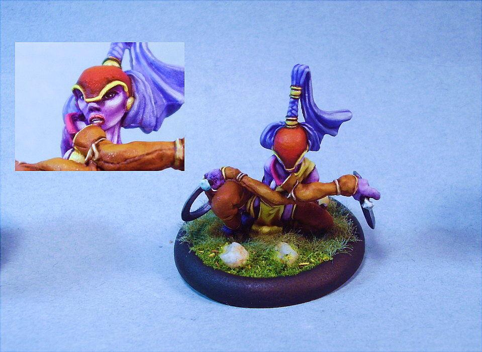 Dark Age spel målade miniatyr söt kvinna Dragory Whisper