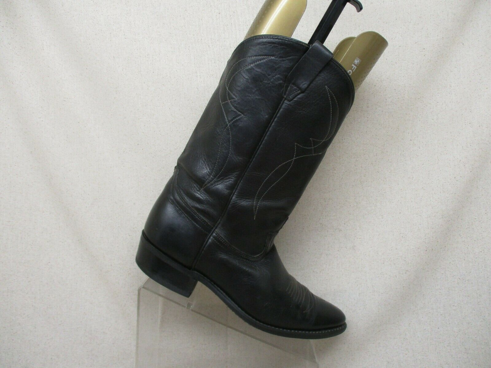 Acme Black Leather Western Cowboy Boots Mens Size 10 D Style 0766 USA