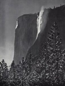 1959-Vintage-ANSEL-ADAMS-El-Capitan-Fall-Yosemite-Tree-Landscape-Photo-Art-12X16
