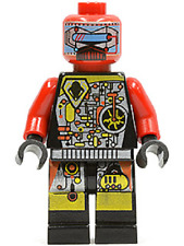 LEGO UFO DROID RED MINIFIG Space minifigure robot from set 6915 6979 sp044