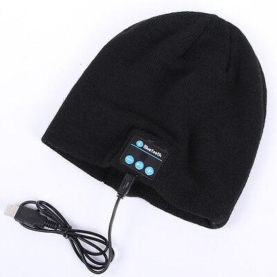 Wireless Bluetooth Stereo Headphones Headset Mic Knit Beanie Hat Cap Men Women
