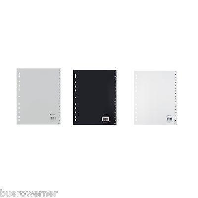Ordner-Register A-Z Buchstabenregister Register PP ABC 20tg grau weiß schwarz