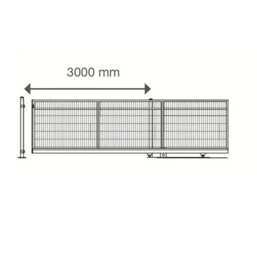 DoppelstabmattenzaunFreitragendes SchiebetorElektro-AntriebRAL7016 NEU