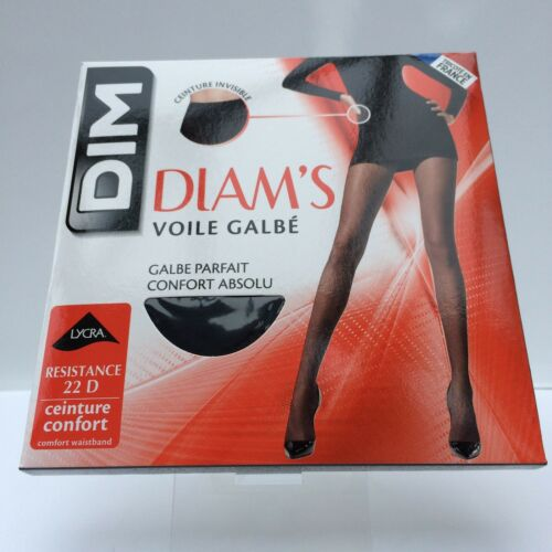DIM DIAM S VOILE Galbe Tights 22 Denier Size 1 Black - EUR 1 6b58a98b750