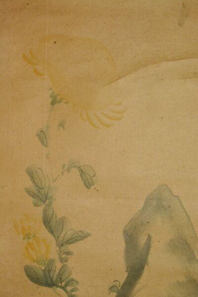 Desinteresado Japonés Colgante Rollo Art Pintura Rock Japan Asiático Imagen Crisantemos Una Gran Variedad De Productos