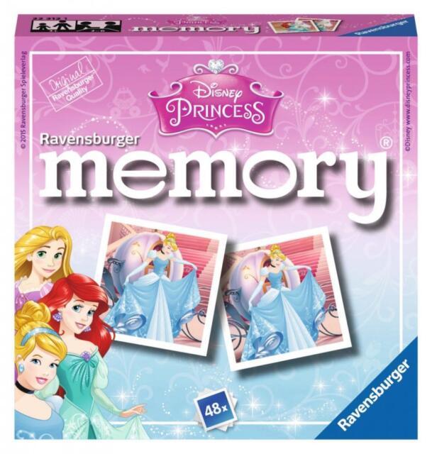 Ravensburger 22312 Disney Princess Mini Memory Game Childrens Age 3+ Card Game