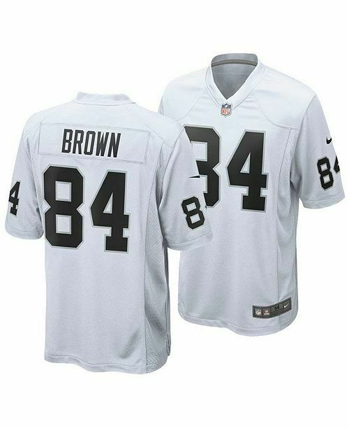 Nike 2019 NFL on Field Raiders Brown 84 Jersey White Size 48