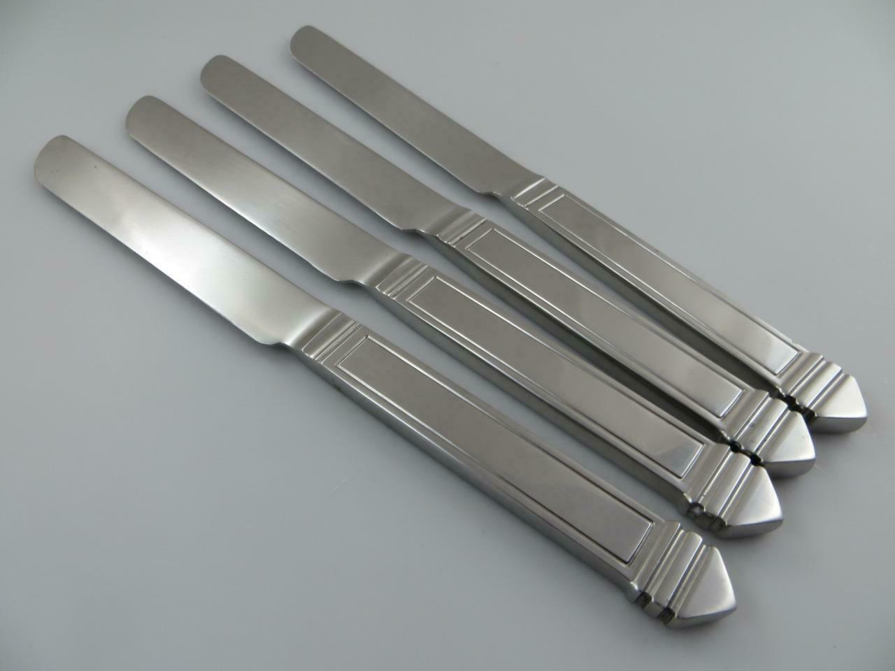 4 Dinner Dinner Dinner Knives PYRAMID Dansk Japan Stainless Steel Flatware Satin Finish 00540e