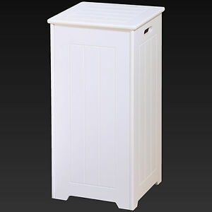 Tall White Wooden Square Laundry Bin Basket Stylish Locking Hinges & Laundry Bin White - Cbaarch.com - Cbaarch.com Aboutintivar.Com