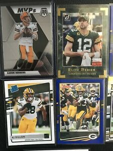 2020-Aaron-Rodgers-A-J-Dillon-Aaron-Jones-LOT-9-Mosaic-Rated-Rookie-More