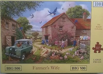 500 PIECE HOUSE OF PUZZLES JIGSAW PUZZLE FARMERS WIFE ! XL PIECES