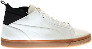 Puma-Men-Shoes-Play-Nude-White-Patent-Leather-Semi-White-Gloss-Space-Effect