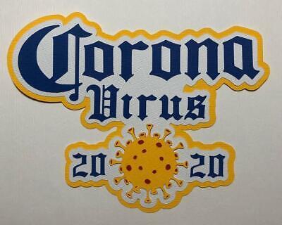 Coronavirus Craft Die Metal Craft Die Set COVID Metal Cutting Dies 6 Piece Metal Dies Pandemic Scrapbooking Metal Crafting Die