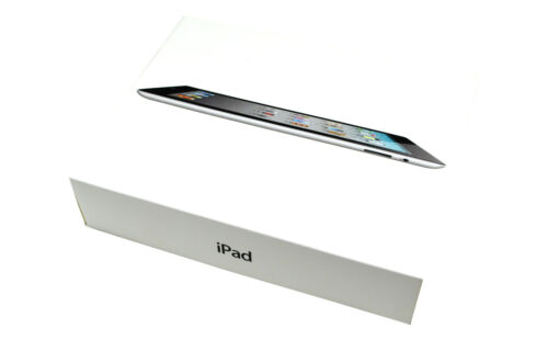 Apple iPad 2 A1395 16GB black Originalverpackung nur Karton mit Handbuch