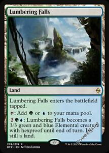 1-PLAYED-Lumbering-Falls-Land-Battle-for-Zendikar-Mtg-Magic-Rare-1x-x1