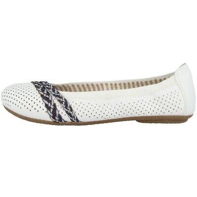 Offizielle Website Rieker Alabama-wovenband-wovenband Schuhe Ballerinas Antistress Slipper 41469-80 Seien Sie Freundlich Im Gebrauch