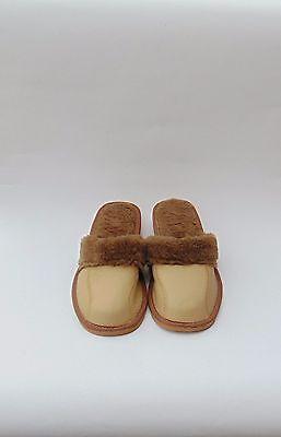 Cuero de las Señoras Zapatillas Calienta *** *** la UE producto hecho a mano Talla 6
