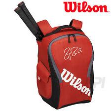 Wilson Federer Team III Backpack Tennis Racquet Bag - Red - Brand New!