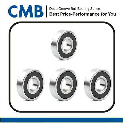4pcs 626-2RS C3 Rubber Sealed Ball Bearing Miniature Bearings 6x19x6mm