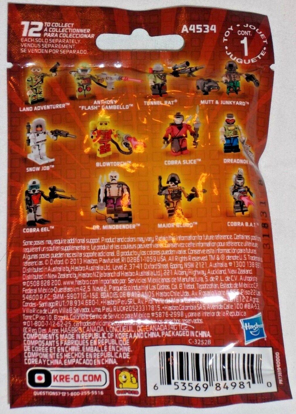 HASBRO GI JOE KRE-O KRE-O KRE-O Complete Collection 2 x12 Minifigure Action Figure BLIND BAG b4e0c7