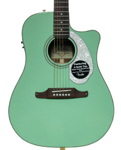 Fender Sonoran Sce Surf Green Acoustic Electric Guitar Ebay